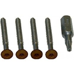 Alpha 10440BR Panel Tamper Screws+Tool - Brown
