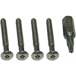 Alpha 10440SL Panel Tamper Screws+Tool - Silver