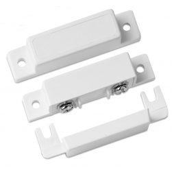 Interlogix 1087T-N Surface Screw Mount Contact, SPDT, White, 3/4 Gap