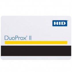 Interlogix 1336-HID DuoProx II White Gloss Front/Standard Artwork Gloss Back with Magstripe, 26-Bit Format, Facility Code & Card Number Assigned