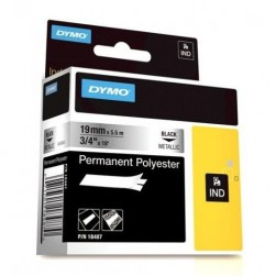 "Dymo 18487 RHINO 3/4"" (19mm) Metallized Permanent Poly Labels"