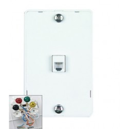 DataComm 20-1612 Color-Rite Quick Mount Plate, White