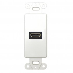 DataComm 20-4501-WH Decor Wall Plate Insert with Single 90° HDMI Connector, White