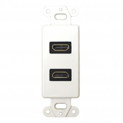 DataComm 20-4502-WH Decor Wall Plate Insert with Dual 90° HDMI Connector, White