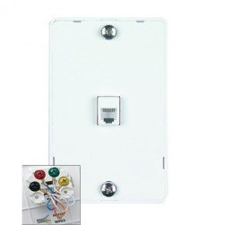 DataComm 22-0112 Color-Rite Quick Mount Plate, White