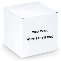 West Penn 60991BRDTYE1000 2 Conductor 16 AWG Solid Unshielded FR Plenum Cable, 1000', Yellow
