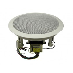 """MG Electronics 610CXBT/WG 6.5"""" Coaxial Speaker 70/25 Volt Transformer White High Style Grill"""