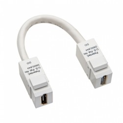 Platinum Tools 775WH-1C HDMI to HDMI Keystone Pigtail (White)