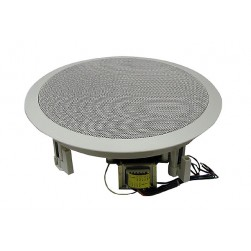 """MG Electronics 810CXBT/WG 8"""" Coaxial Speaker 70/25 Volt Transformer White High Style Grill"""