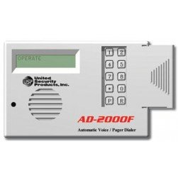 United Security Products AD2000-F Auto Voice Dialer with 4 VMZ's - Calls 8 Numbers - 24VDC