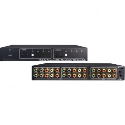 Speco COMVMSW2 4 Input 2 Output Component Video Matrix Switcher with Stereo Audio