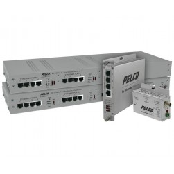 Pelco EC-1504C-W EthernetConnect Local/Remote 4 Port Coaxial Extender
