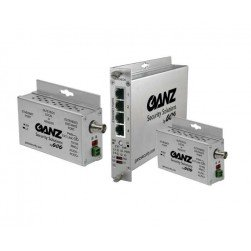 Ganz GLFE16EOC 16Ch 15W Ethernet over COAX Extender w/Pass-Through PoE