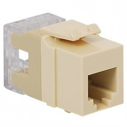 ICC IC1076F0AL HD RJ-11 Keystone Jack, Almond