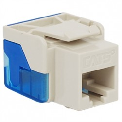 ICC IC1078E5WH EZ CAT 5e Keystone Jack, White