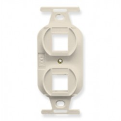 ICC IC107DPIAL 2-Port Electrical Insert Almond