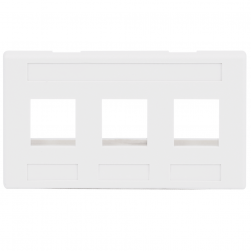ICC IC107FM3WH 3-Port Furniture Faceplate White