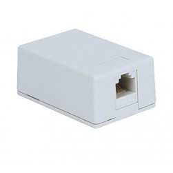 ICC IC625S51WH 1-Port 8P8C CAT 5e Surface Mount Jack - White