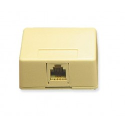 ICC IC625SB6IV 1-Port 6P6C Surface Mount Jack - Ivory