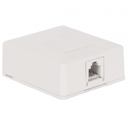 ICC IC625SB6WH 1-Port 6P6C Surface Mount Jack - White