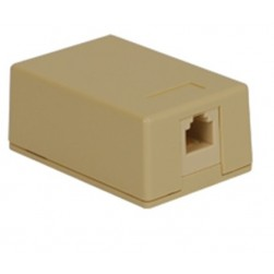 ICC IC625SV1IV 1-Port 6P6C RJ-11 Surface Mount Jack - Ivory