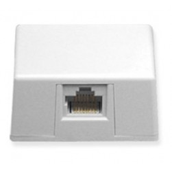 ICC IC635DS4WH 1-Port 8P4C Keyed Surface Mount Jack - White