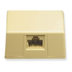 ICC IC635DS8IV 1-Port 8P8C Keyed Surface Mount Jack - Ivory