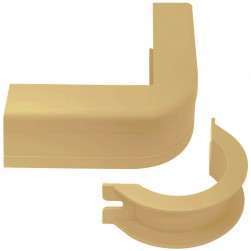 "ICC ICRW12OBIV 1 1/4"" Outside Corner Cover & Base - Ivory 10pk"