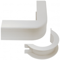 "ICC ICRW12OBWH 1 1/4"" Outside Corner Cover & Base - White 10pk"
