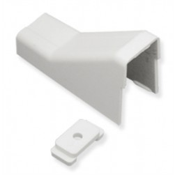 "ICC ICRW33CMWH 1 1/4"" Ceiling Entry & Clip - White"