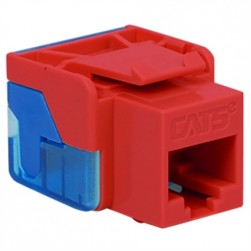 ICC IC1078E5RD EZ CAT 5e Keystone Jack, Red