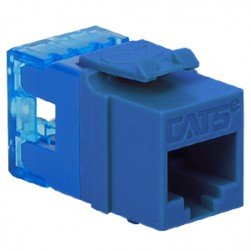 ICC IC1078F5BL HD CAT 5e Keystone Jack, Blue