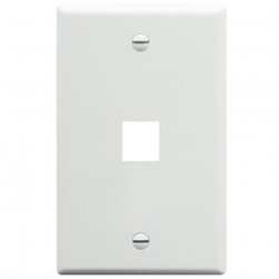 ICC IC107F01WH 1-Gang Flat Faceplate, White