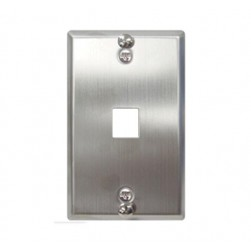 ICC IC107FFWSS 1-Port Flush Telephone Wall Plate Stainless Steel