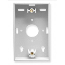 ICC IC250MBSWH 1-Gang Faceplate Mounting Box - White