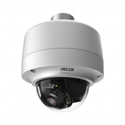 Pelco IMP319-1ERP 3 Megapixel Day/Night Vandal Resistant Environmental Mini Dome IP Camera, 3 - 9mm Varifocal Lens, Light Gray