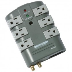 Minuteman MMS760RCT 6-Rotating Outlet Surge Suppressor with Coax and Phone Line Protection
