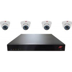 ATV N8P2T4 8-Channel NVR Camera System with (4) HD Turret Domes