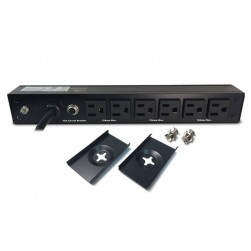 Minuteman OEPD615V12PC6 6-Outlet Vertical Mounted PDU, 15 Amp