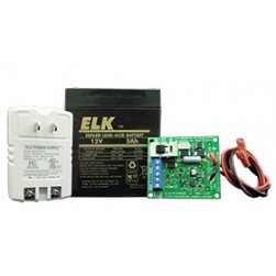 Elk P1215K Power Supply / Battery Charger Kit with 5Ah Battery