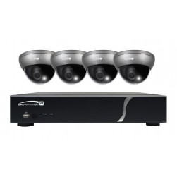 Speco ZIPT471 4 Channel HD-TVI DVR, 1TB with 4 X 1080p Outdoor Intensifier Dome Cameras, Grey