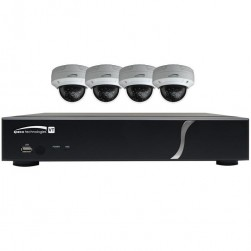 Speco ZIPT4D1 4 Channel HD-TVI DVR, 1TB with 4 X 1080p Outdoor IR Dome Cameras, White