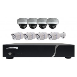 Speco ZIPT8BD2 HD-TVI 8 Channel 1080p DVR, 2TB with 4 X IR Dome and 4 X IR Bullet Outdoor Cameras, White