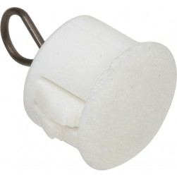 Nascom ADPLP0500WHT 1/2 Inch Adaptor Plug with Loop White