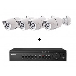 Avycon AVK-HN41B4-2T 4 Channel NVR, 2TB with 4 x 4MP H.265 Outdoor Bullet Cameras