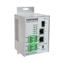 Comnet CNFE3FX1TX2C8TX-M Industrially Hardened 10/100 Mbps 3-Port Intelligent Ethernet Switch