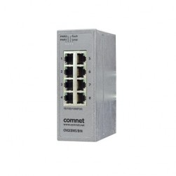 Comnet CNGE8MS/DIN 8-Port Hardened Managed Ethernet Switch