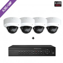 Cantek-Plus CTPK-NH41V4-2T IP Camera System w/(4) Dome Cameras, 2TB