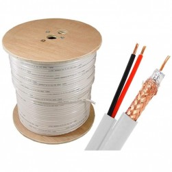 Cantek CT-90S1000/W 1000Ft Siamese Cable - White
