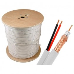 Cantek CT-90S500ft/W 500Ft Siamese Cable - White